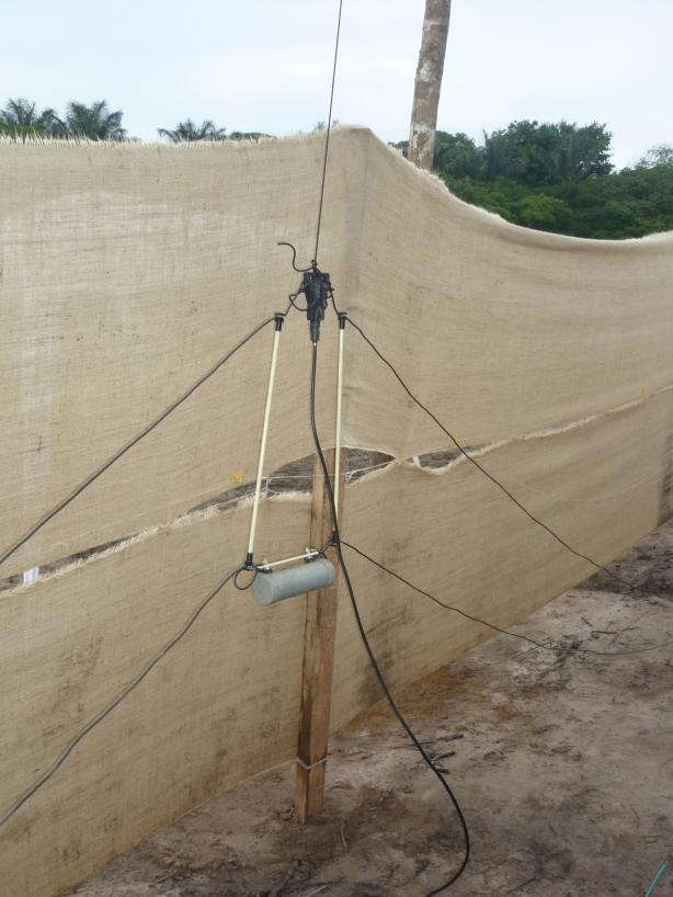 Antena multibanda pronta para ser elevada no mastro